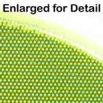 "Fluorescent Lime Yellow 1"" Vinyl Safety Dot - Enlarged for Detail"